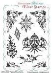 Chocolate Baroque Fancy Flourishes Clear Stamp